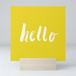 Hello x Sunshine Script Mini Art Print