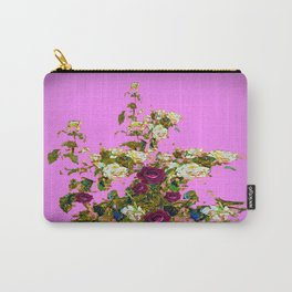 lilac PURPLE whiteb ROSESpurple ROES garden Carry-All Pouch