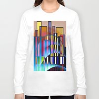seattle Long Sleeve T-shirts featuring Seattle by Kristine Rae Hanning