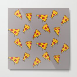 Pizza slices Metal Print