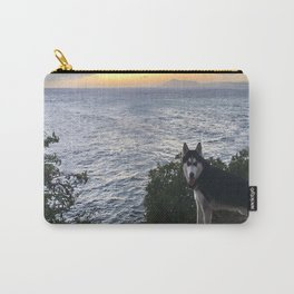 Wolfie the Siberian Husky No.2 Carry-All Pouch