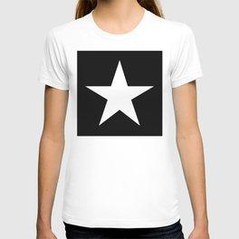 White star on black background T-shirt