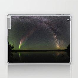 Milky Way and Steve Laptop & iPad Skin