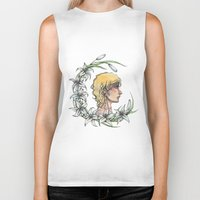 enjolras Biker Tanks featuring Enjolras and lilies by MonsterFromTheLAke