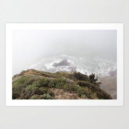 Foggy Rock Art Print