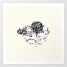 Chestnut Burr & Pottery Art Print