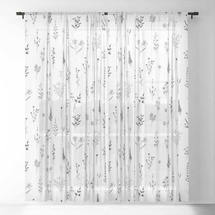 Wildflowers Sheer Curtain