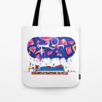 milky way Tote Bags featuring Milky Way by A.Bran