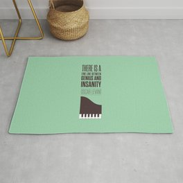 Lab No. 4 - Oscar Levant Planist Inspirational Quotes Poster Rug