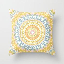 Pastel Pebbles Mandala Throw Pillow