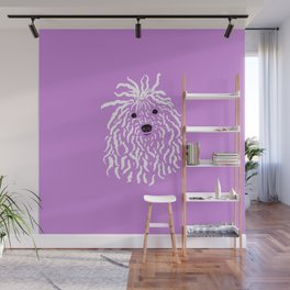 Puli (Violet and White) Wall Mural