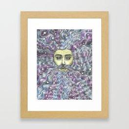 Beardy Stargazer Framed Art Print