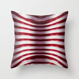 Red and White Organic Rib Cage Throw Pillow