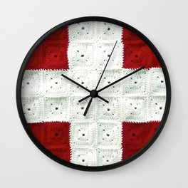 White Cross Wall Clock