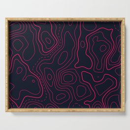 Topographic Map Pattern Serving Tray