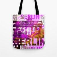 berlin Tote Bags featuring Berlin  by LebensART