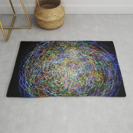 Ball of String Light painting Rug