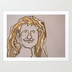 self portait 2 Art Print