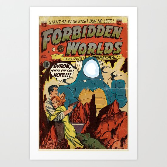 Forbidden Worlds Art Print