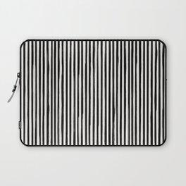 Skinny Stroke Vertical Black on Off White Laptop Sleeve