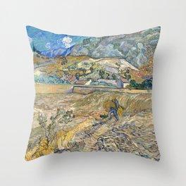 Landscape at Saint-Rémy by Vincent van Gogh Throw Pillow