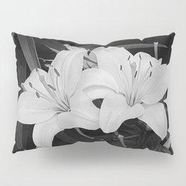 Contemporary Black White Lily Flower Floral Art A116 Pillow Sham