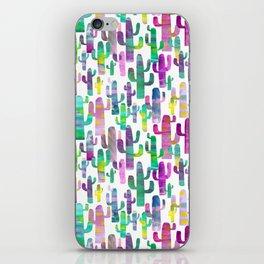 Watercolor Cacti - Pinks - Saguaros iPhone Skin