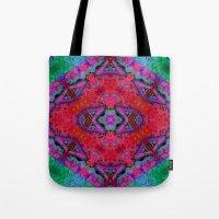kilim Tote Bags featuring Digital Kilim by Jellyfishtimes