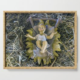 Away In A Manger Serving Tray