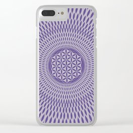 Flower of life Ultra violet on misty lilac Clear iPhone Case