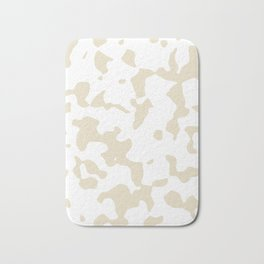 Large Spots - White and Pearl Brown Bath Mat