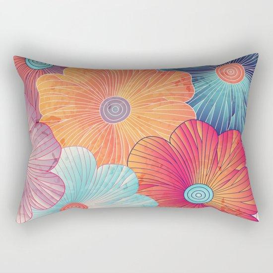 Big flowers Rectangular Pillow