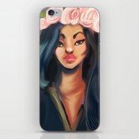 princess iPhone & iPod Skins featuring Princess by Jaleesa McLean