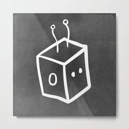 Chalkboard Wallies Metal Print