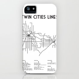 Twin Cities Lines Map iPhone Case