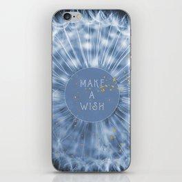 Make A Wish Dandelion iPhone Skin