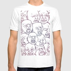 Lovely Babies MEDIUM Mens Fitted Tee White