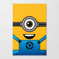 minion Canvas Prints featuring MINION! by Dee9922