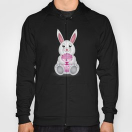 Easter bunny with pink egg Hoody