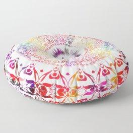 Radiant Om Mandala Floor Pillow