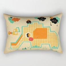 Elephant Playground Rectangular Pillow
