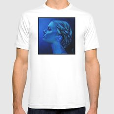 Blauw Mens Fitted Tee White MEDIUM