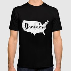 Dreamer USA Black Mens Fitted Tee MEDIUM