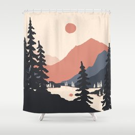 View From the East Shore... Shower Curtain