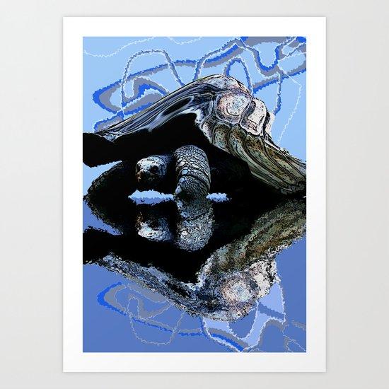 Blue Turtle Art Print