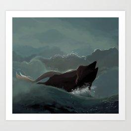 Mermaid in the Storm Art Print