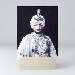 The Maharaja, Bhupinder Singh, of Patiala in the Punjab region of India, 1911 Infrared art by Ahmet Mini Art Print