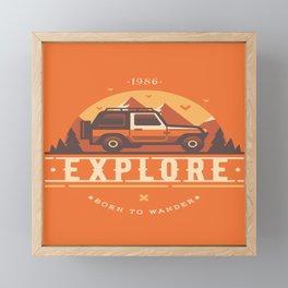 Explore Framed Mini Art Print