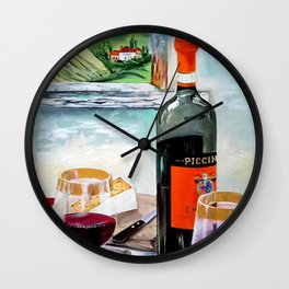 The Wine Painting Wall Clock