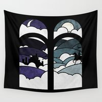 knight Wall Tapestries featuring the knight  by Darthdaloon